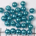 acrylic pearls round 10 mm - turquoise
