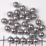 acrylic pearls round 10 mm - silver