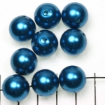 kunststof parels rond 14 mm - donker turquoise