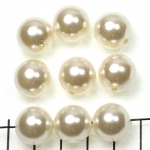 acrylic pearls round 14 mm - ivory