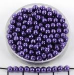 acrylic pearls round 4 mm - dark purple