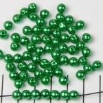 acrylic pearls round 6 mm - green