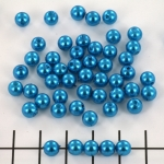 acrylic pearls round 6 mm - dark turquoise