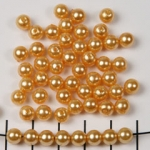 acrylic pearls round 6 mm - gold