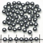 acrylic pearls round 6 mm - gray