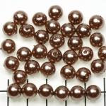 kunststof parels rond 8 mm - beige goud bruin