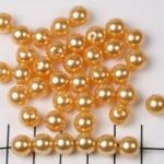 kunststof parels rond 8 mm - goud