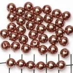 kunststof parels rond 8 mm - beige bruin