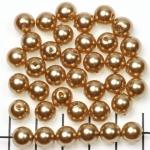 kunststof parels rond 8 mm - goud bruin