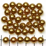 acrylic pearlsround 8 mm - dark gold brown