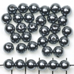 acrylic pearlsround 8 mm - gray