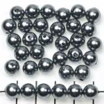 kunststof parels rond 8 mm - grijs