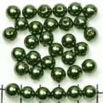 acrylic pearlsround 8 mm - green