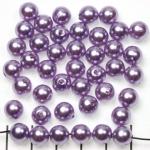 kunststof parels rond 8 mm - lila paars