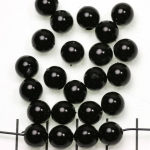 acrylic pearlsround 8 mm - black