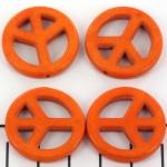 peace teken 25 mm - oranje