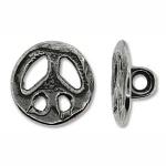 peace knoop 15 mm - antiek zilver