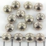 bloem plat rond 12 mm - zilver