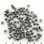 preciosa bicone 4 mm - jet hematite full