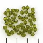 preciosa bicone 4 mm - olivine