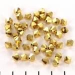 preciosa bicone 6 mm - crystal aurum full