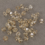 preciosa bicone 6 mm - crystal honey