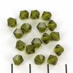 preciosa bicone 6 mm - olivine