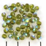 preciosa rond facet 4 mm - olivine ab