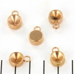 point stone bead settings 14 mm - rose gold