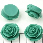 rose 23 mm - turquoise green