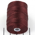 c-lon bead cord 0.5mm - black currant