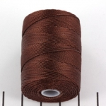 c-lon bead cord 0.5mm - brown