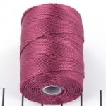 c-lon bead cord 0.5mm - cerise