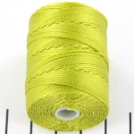 c-lon bead cord 0.5mm - chartreuse