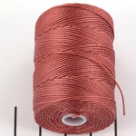 c-lon bead cord 0.5mm - copper rose