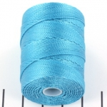 c-lon bead cord 0.5mm - cyan