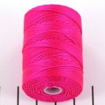 c-lon bead cord - fluo hot pink