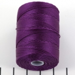 c-lon bead cord 0.5mm - grape paars