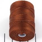 c-lon bead cord 0.5mm - mahogany