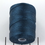 c-lon bead cord 0.5mm - peacock