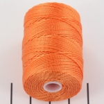 c-lon bead cord 0.5mm - tangerine