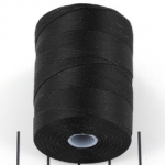 c-lon micro bead cord 0.3mm - black