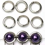 ring met rijggat 14 mm - zilver