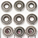 ring met rijggat 16 mm - zilver
