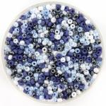 miyuki seed beads 11/0 - mix blue wonder