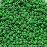 seed beads 12/0 opaque - green