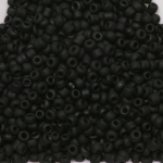 rocailles 12/0 frosted opaque - zwart mat