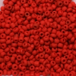 seed beads 12/0 frosted opaque - red