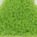 seed beads 12/0 frosted transparent - light  green matte