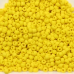 seed beads 12/0 frosted opaque - yellow